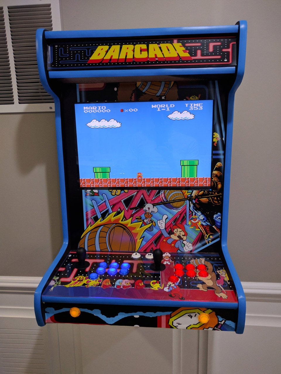Save Money and Space with This Custom Wall-Mounted Arcade Machine