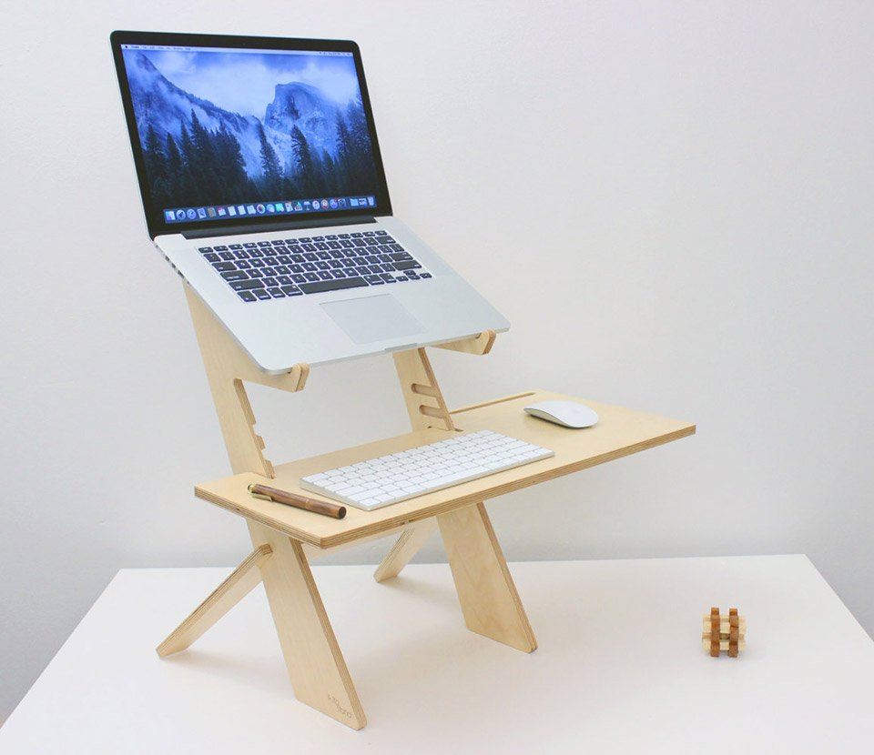 Wood Laptop Standing Desk