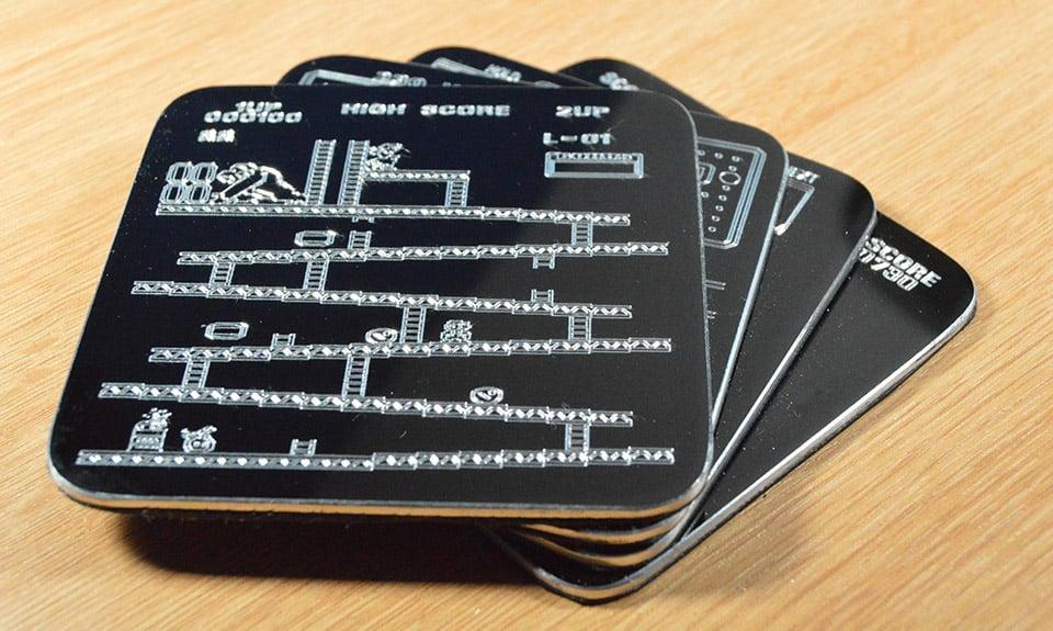Engraved Arcade Coasters
