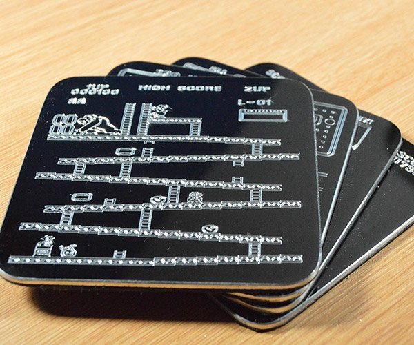 Engraved Arcade Coasters