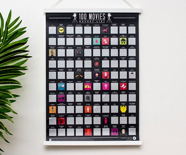 Movies & Albums Scratch-off Posters