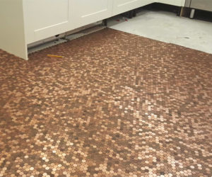 Using Pennies as Floor Tiles
