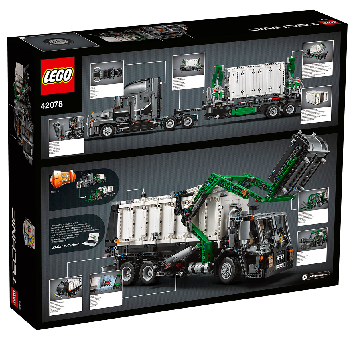 lego technic mack anthem the awesomer. Black Bedroom Furniture Sets. Home Design Ideas