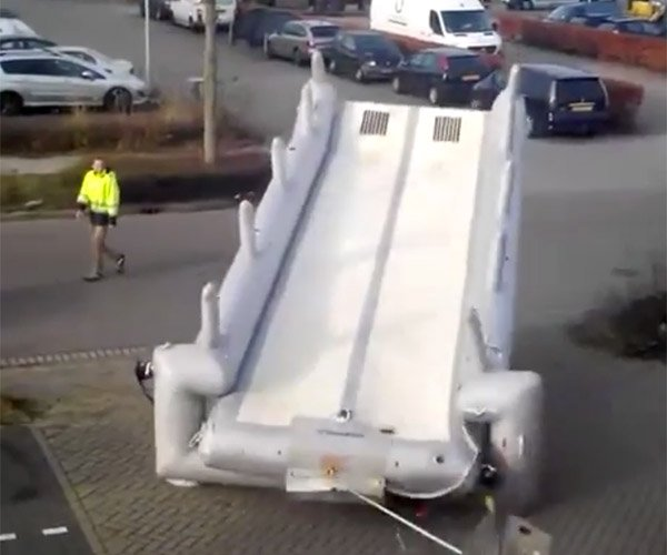 Opening an Airplane Slide