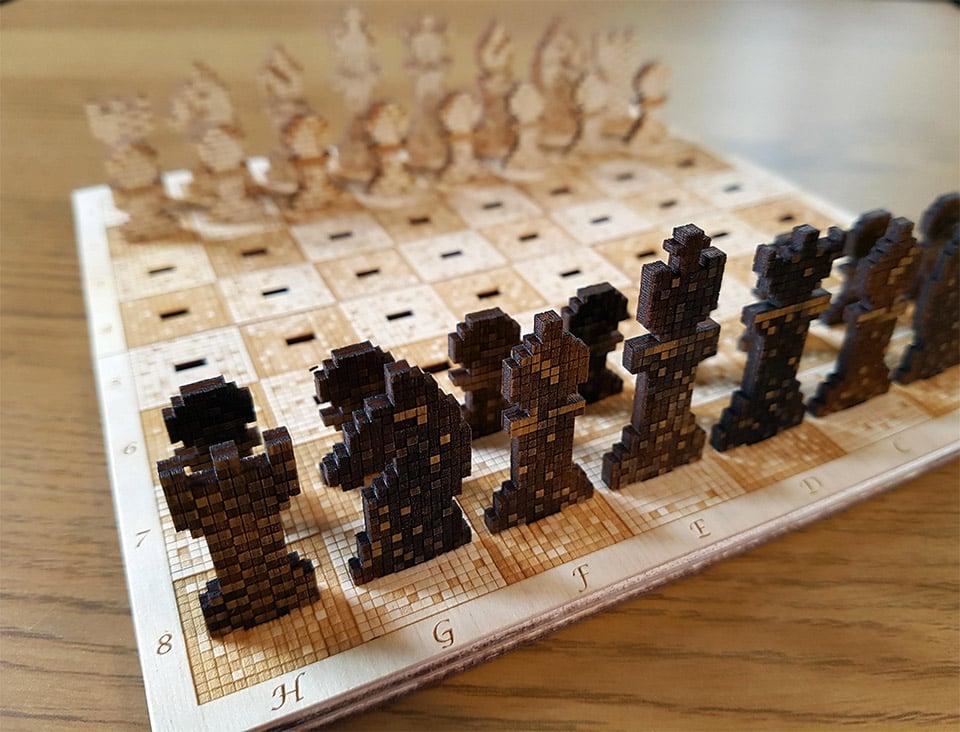 Pixelated Chess Set