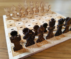 Pixelated Chess Set
