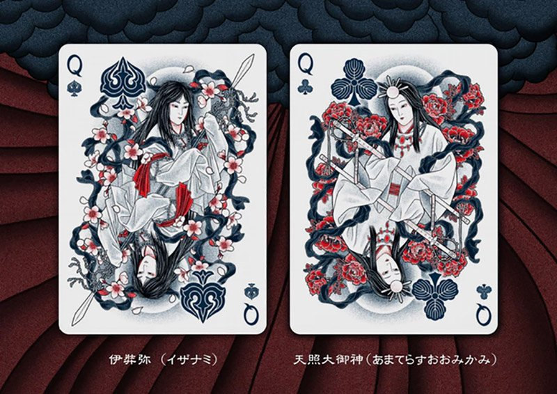 sumi playing cards feature beautiful and bold japanese artwork