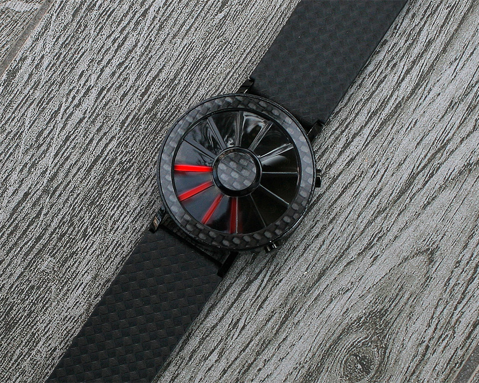 Carbon Fiber Blade Watch