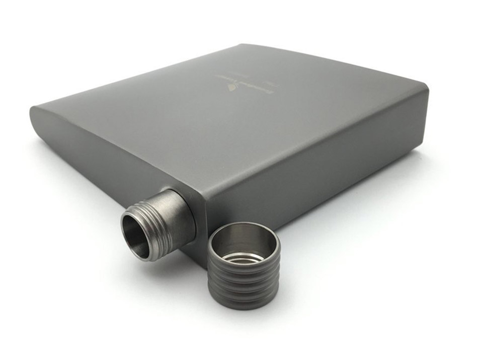 Titanium Wedge Pocket Flask