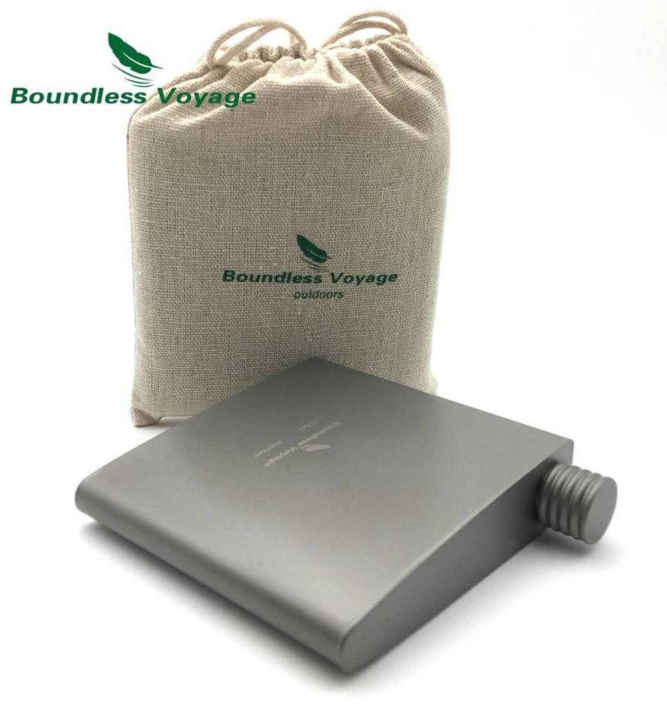 Titanium Wedge Pocket Flask