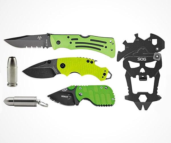 Zombie Green EDC Tools