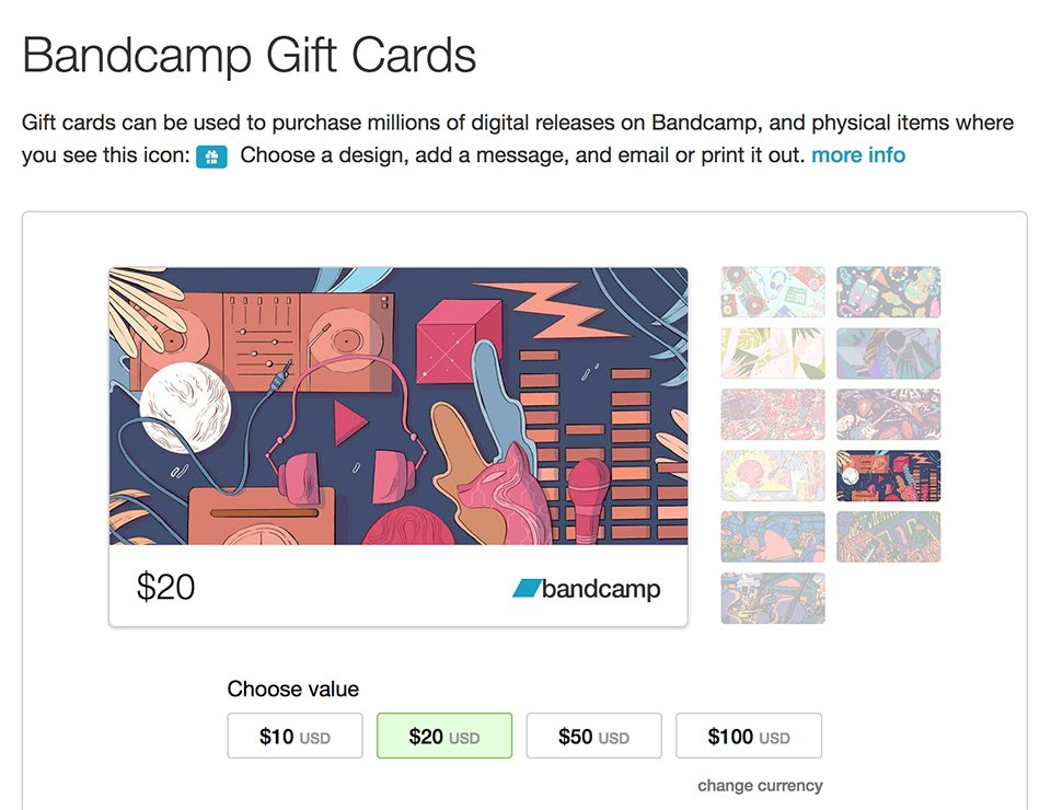 Bandcamp Gift Cards