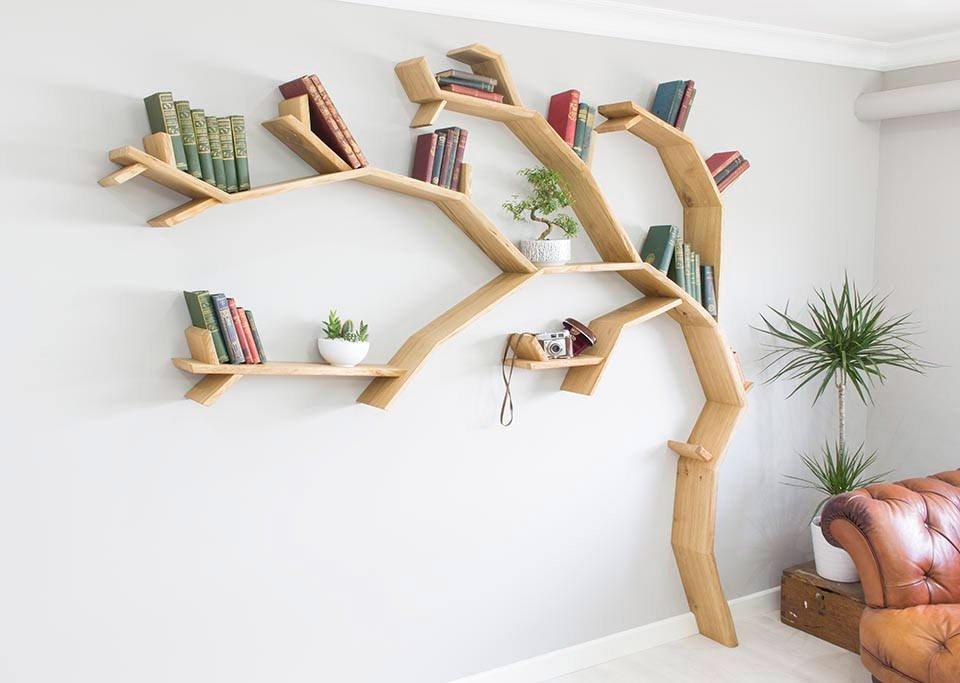 BespOak Tree Bookshelves