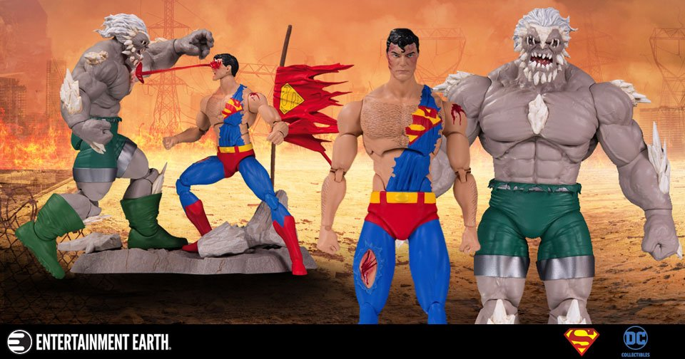 Recreate Superman And Doomsday S Fight With This Action Figure Set