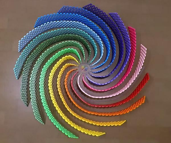 Rainbow Domino Spiral