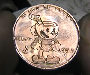 Making a Cuphead Penny