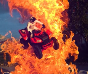 Awesome Fire On The Awesomer - This slow motion fire tornado is the coolest thing youll see all day