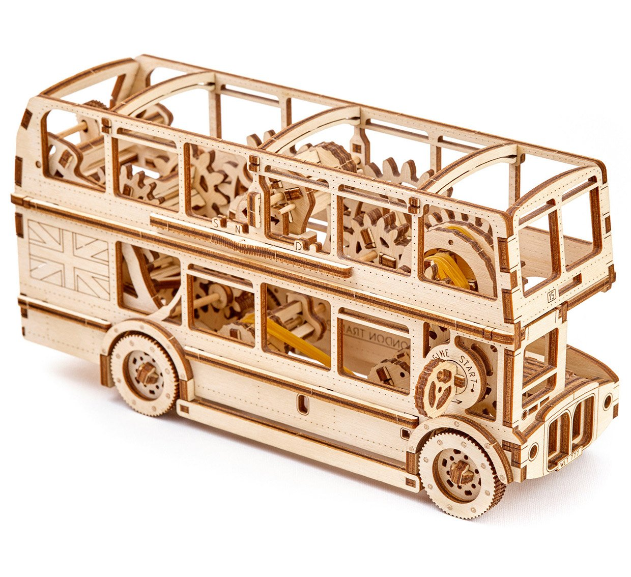 Wooden London Bus Model