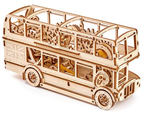 Wooden London Bus Model