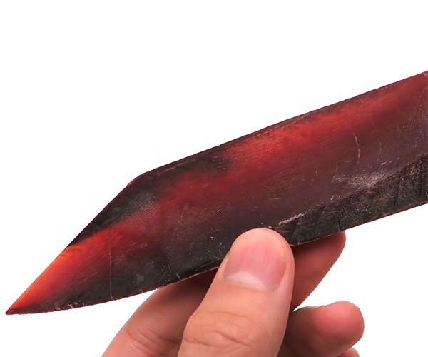 Making a Knife out of Dried Fish
