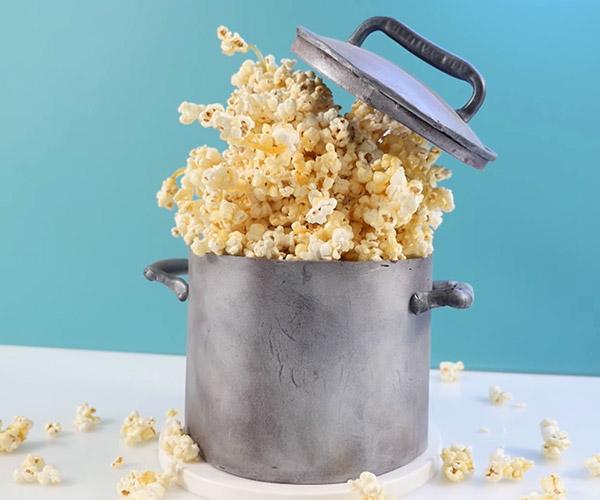 DIY Exploding Popcorn Cake