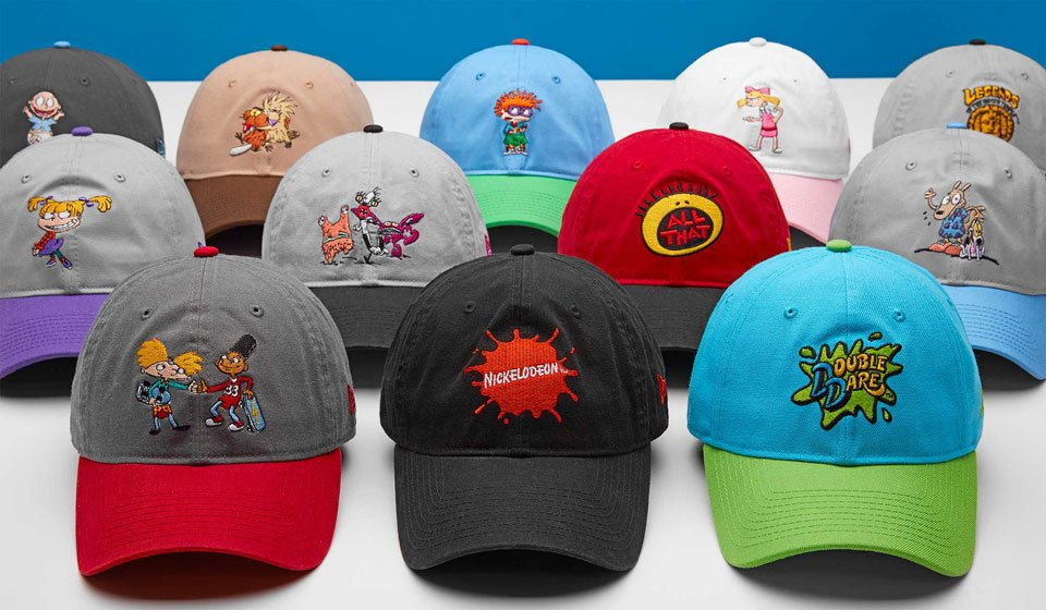 reputable site 65345 2a22f New Era x Nickelodeon  90s Caps