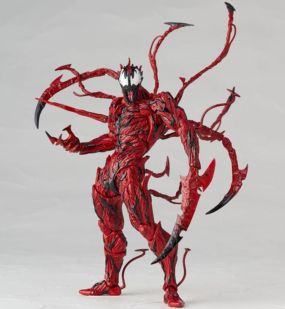 this carnage action figure is a perfect model of spider