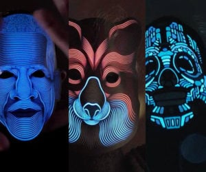 Sound Reactive LED Masks