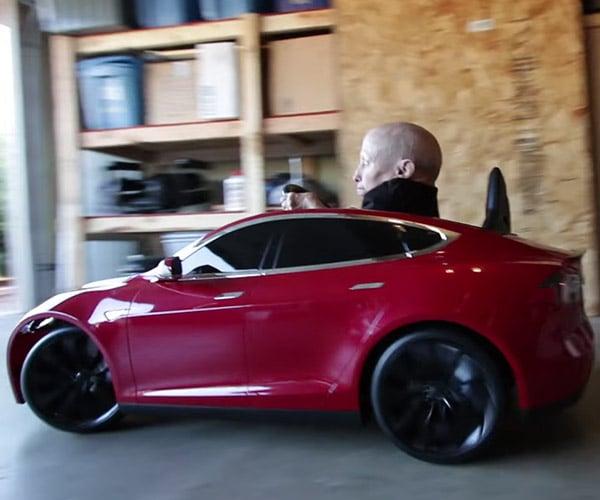 Verne Troyer's Tesla Model S