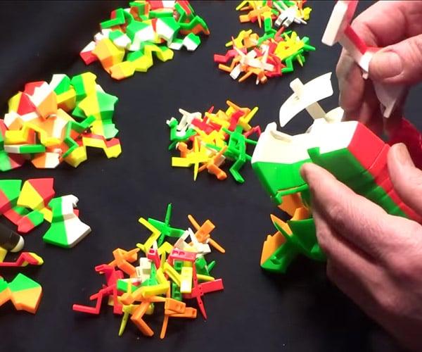 Assembling a 17x17x17 Rubik's Cube