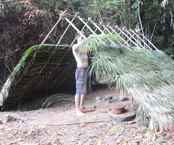 Building an A-frame Hut