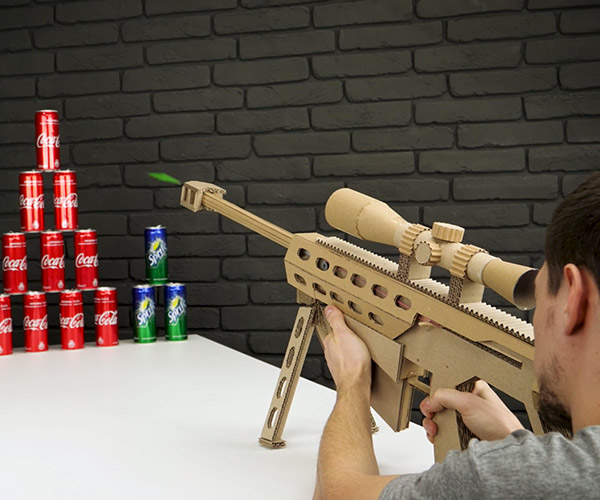 DIY Cardboard Sniper Rifle