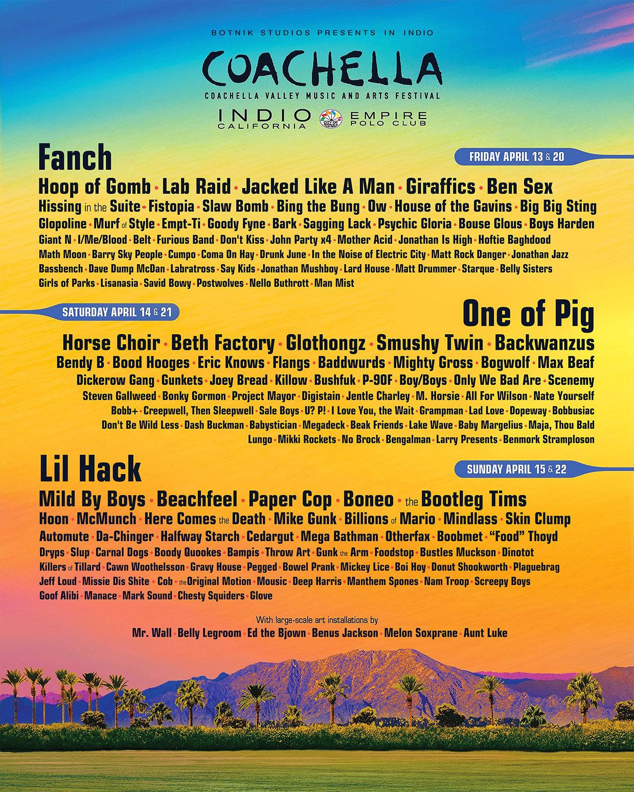 Coachella AI-generated Poster