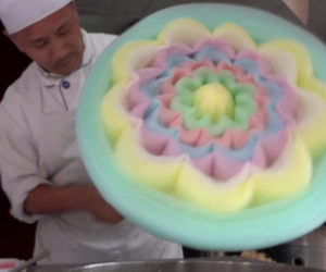 Making a Cotton Candy Flower