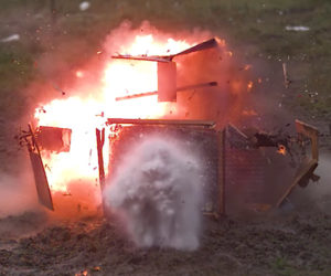Exploding TV in Slow-motion