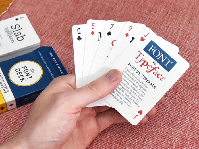Deal: Font Deck Playing Cards