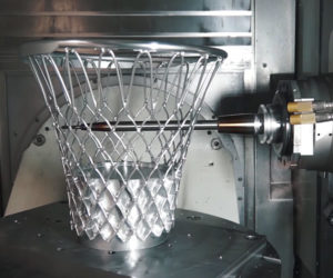 Milling a Metal Basketball Net
