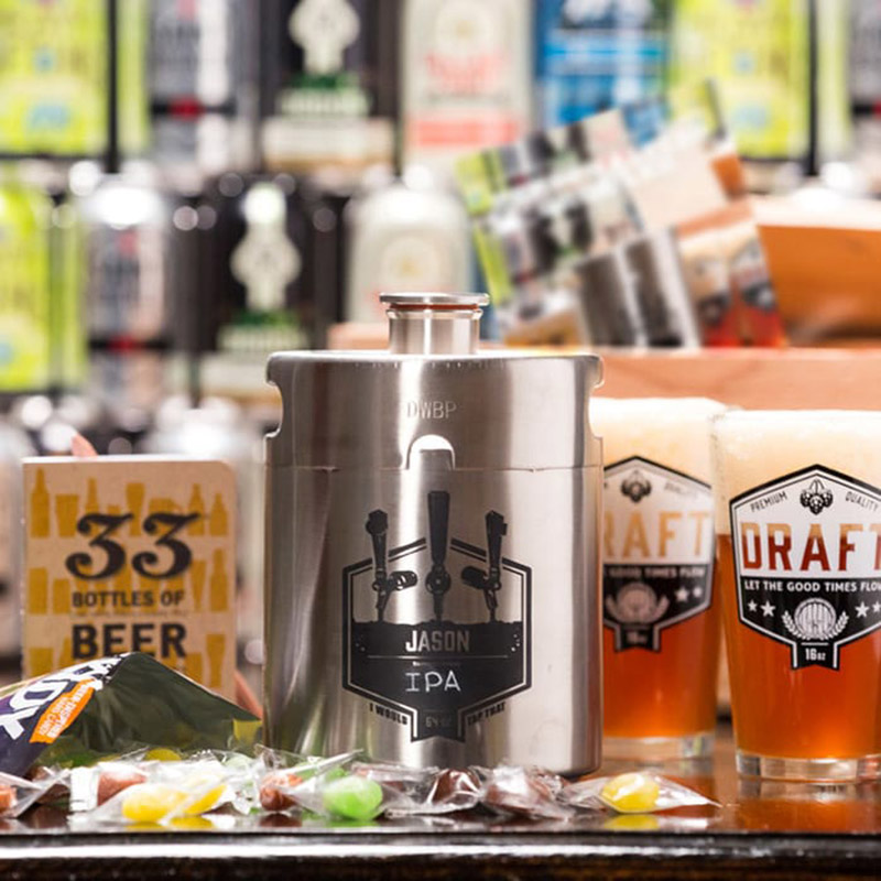 Personalized Growler Man Crate