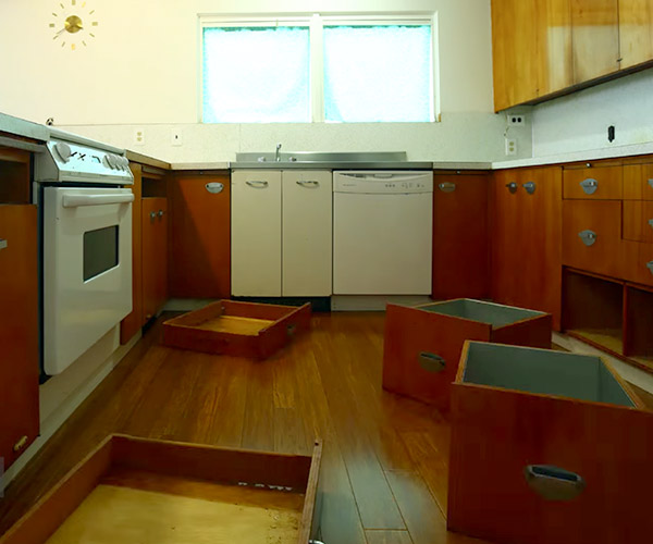 Stop Motion Kitchen Demolition