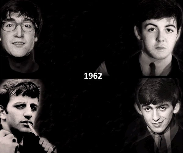 The Beatles Aging Together