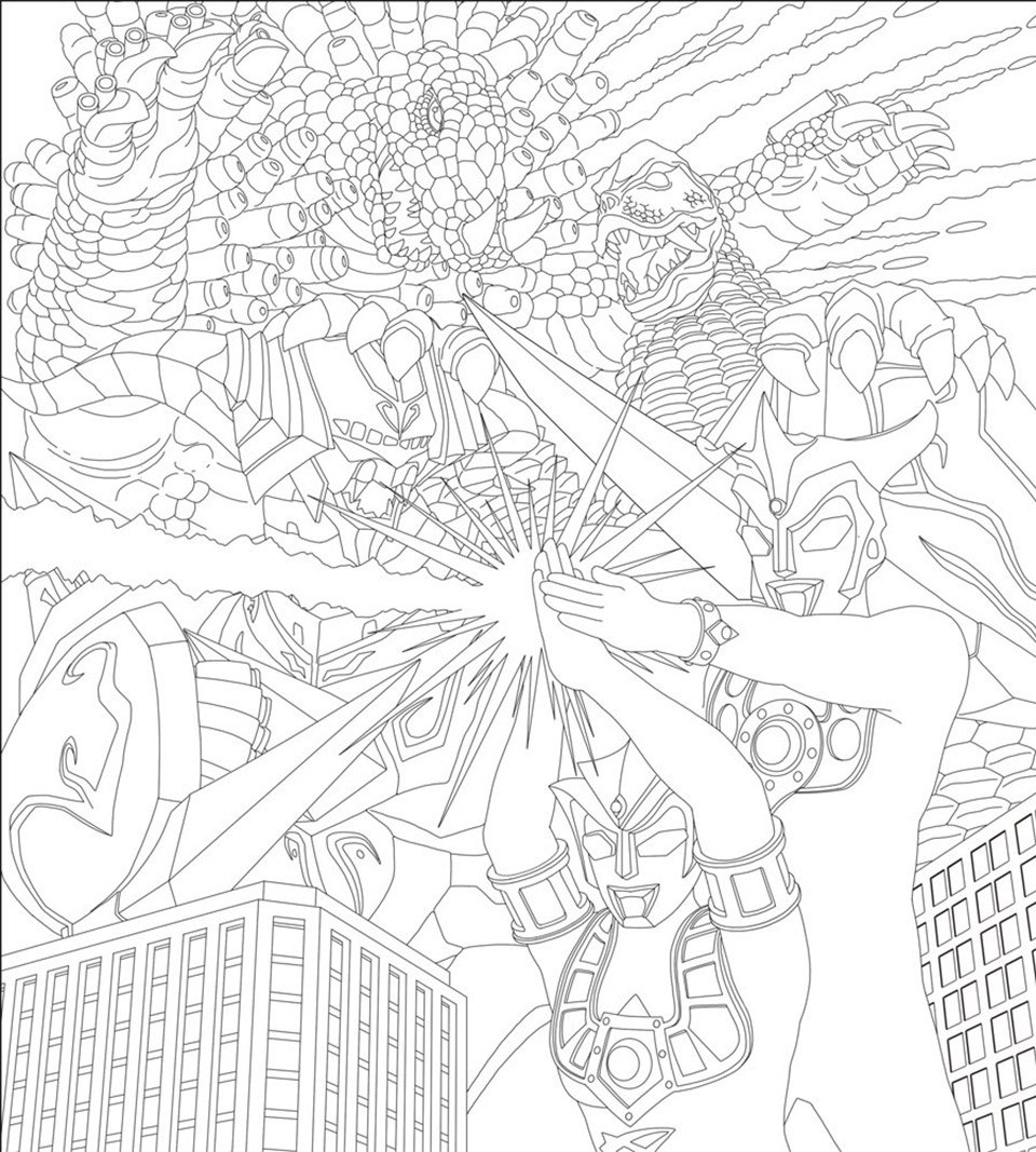 gamera coloring pages - yuji kaida coloring ultra monster the awesomer