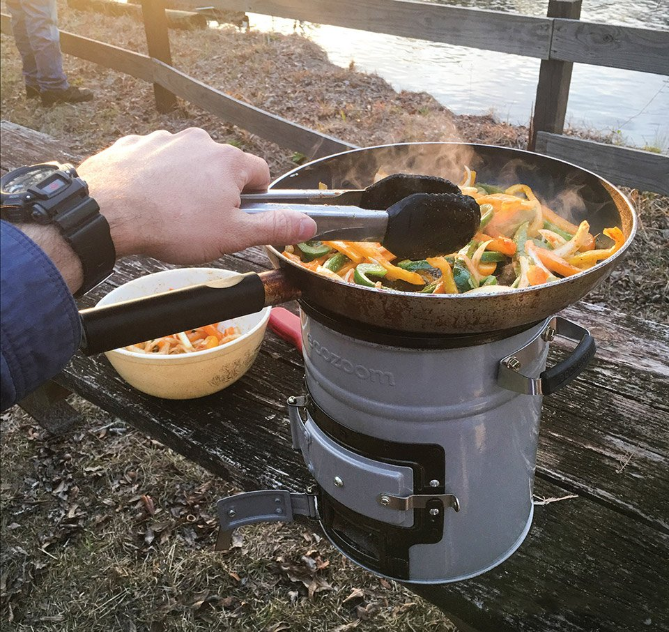 The Ecozoom Versa Rocket Stove Cooks Hot Meals Wherever
