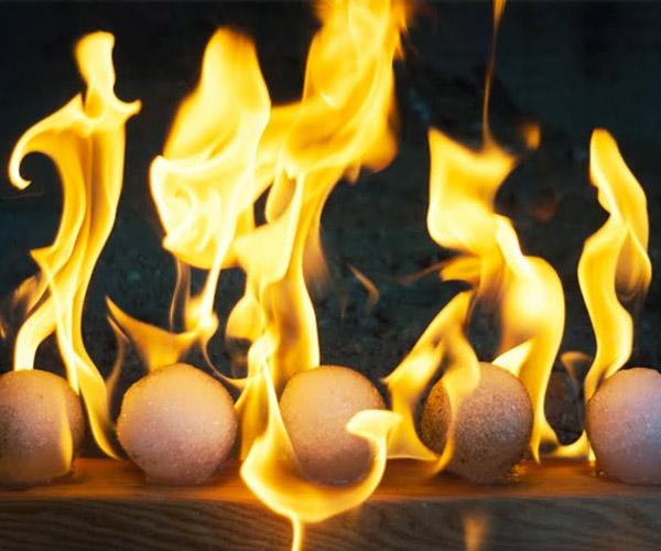 Making Flaming Snowballs