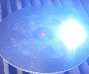Laser Engraving a Disc