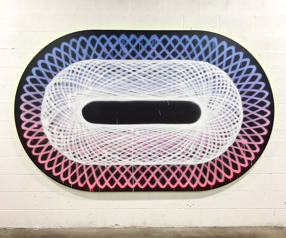 Giant Spirograph Paintings