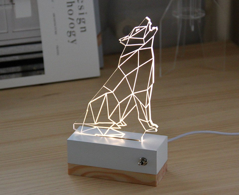 3D Illusion Animal Lamps