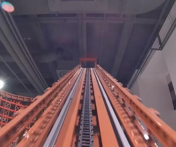 LEGO Wooden Roller Coaster POV