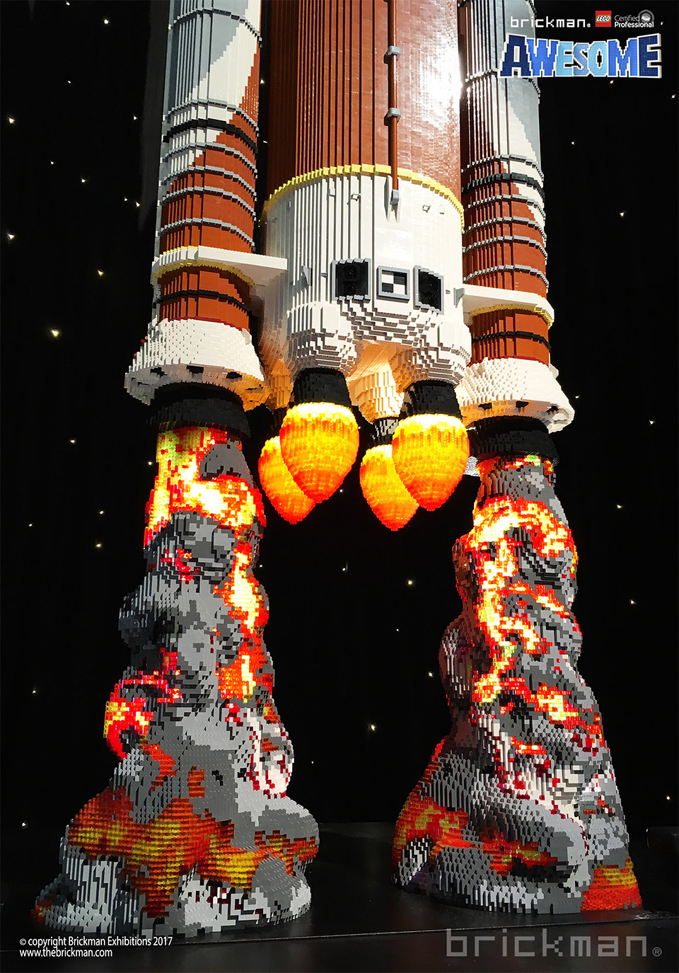 LEGO NASA SLS Rocket Sculpture