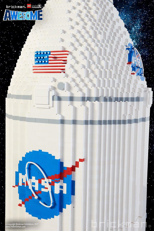 LEGO NASA SLS Rocket Sculpture