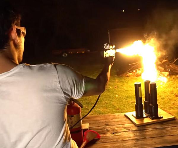 Making a Mini Flamethrower
